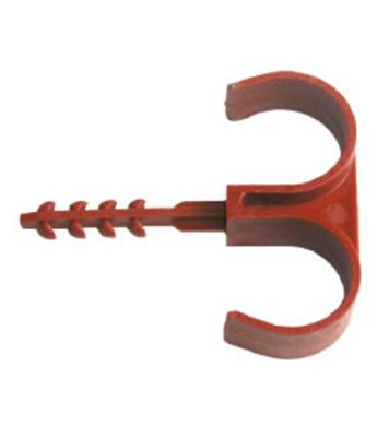 Пластмасова скоба за тръби и шлаух  ВСШ 2xФ28  40бр оп. Vidi