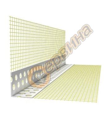 LK Plast 100 Теразид - пластмасов ъгъл с мрежа 2.50м TR015