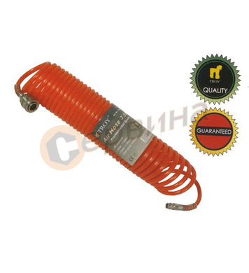 Спираловиден маркуч за въздух - 15метра Troy T18615