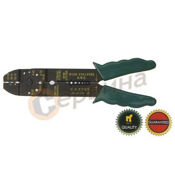 Клещи за кабелни обувки и оголване на кабели TROY T24006