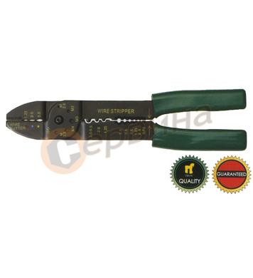 Клещи за кабелни  обувки и оголване на кабели TROY T24005