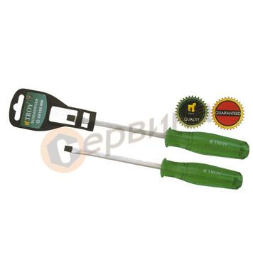 Професионална права отвертка - ударна 5.0 x75mm TROY T22130