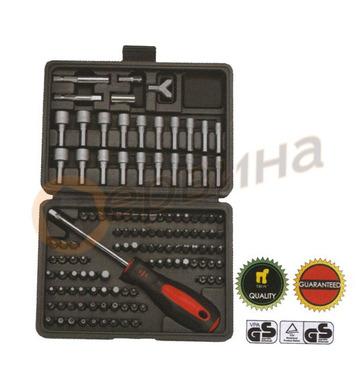 Комплект накрайници и вложки с ръкохватка 122части Wert W223