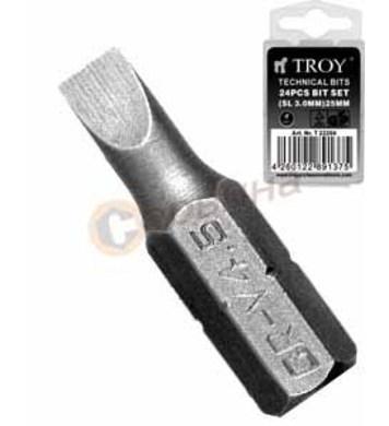 Накрайник за отвертка 3.0x25mm TROY T22204
