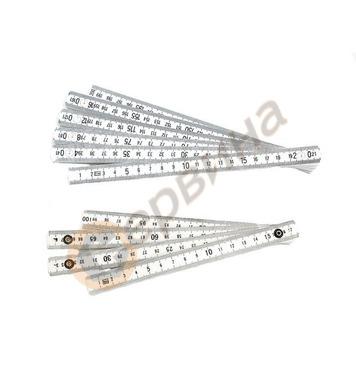 Пластмасов сгъваем метър 1м  Mannesmann M810 PVC-1