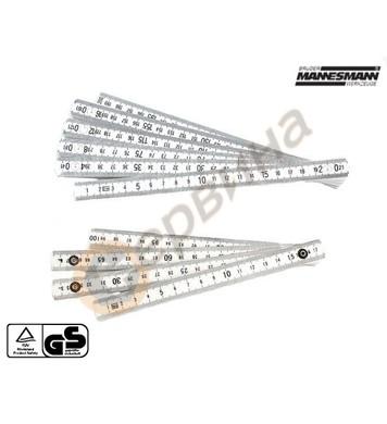 Пластмасов сгъваем метър 2м  Mannesmann M810 PVC-2