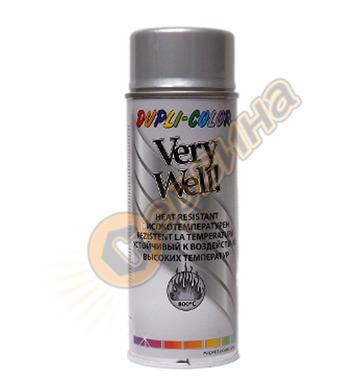 Спрей Very Well високо температурен сребърен 400мл. DE30202