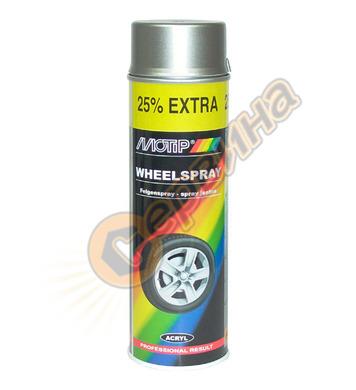 Акрилна боя за джанти- стомана / сребърно Motip DE50400 - 50