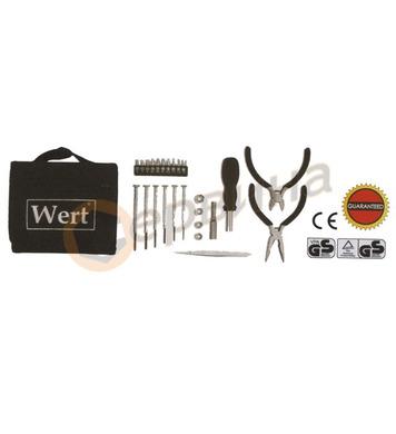 Комплект инструменти с клещи, мини 25бр. WERT W2237