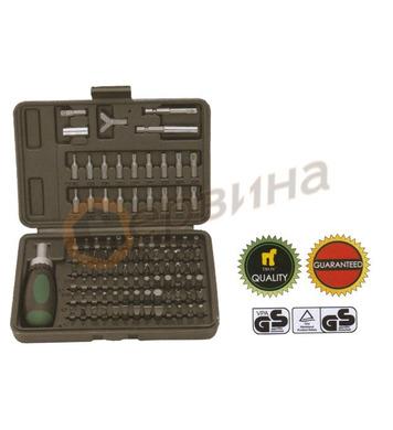 Комплект тресчота ръкохватка с накрайници 101бр. TROY T22309