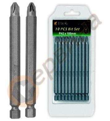 Накрайници за отвертка PZ2-100мм TROY T22236
