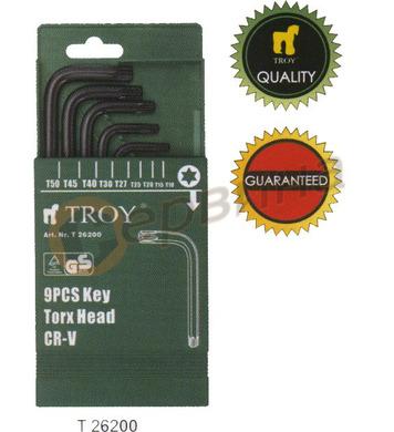 Комплект шестограми TROY - T26200