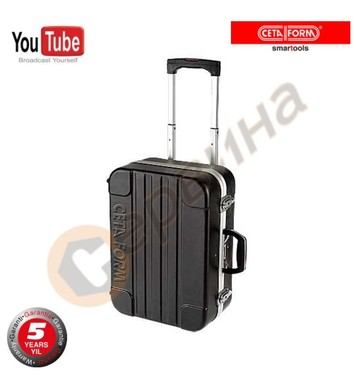 Куфар за инструменти Ceta Form ABS черен с колелца A30-H