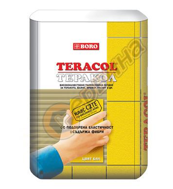 Лепило за гранитогрес и камък - цвят бял Boro Теракол C2TЕ 2