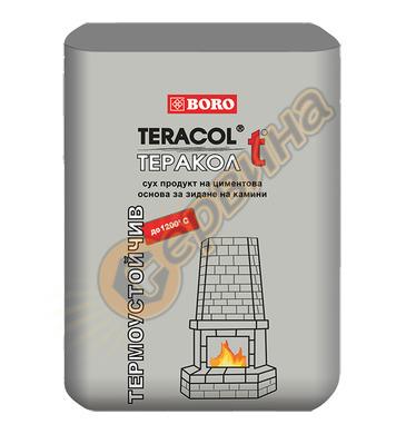 Термоустойчива смес за зидане на камини Boro Теракол t° 2003