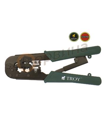 Клещи комбинирани кримпващи TROY T24008