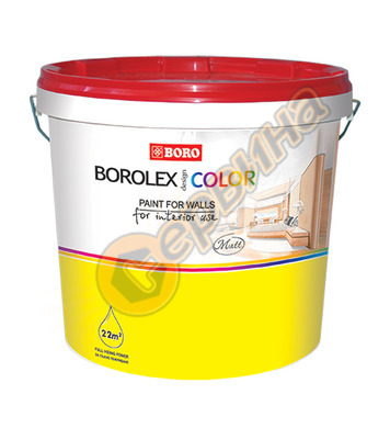 Цветна латексова интериорна боя на водна основа - Светла рез