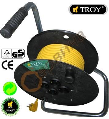 Разклонител - макара с кабел Troy T24030 - 30 метра