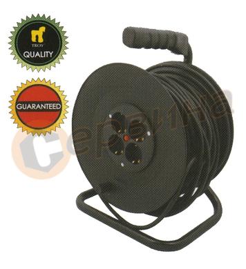 Разклонител - макара с кабел Troy T24050 - 50 метра