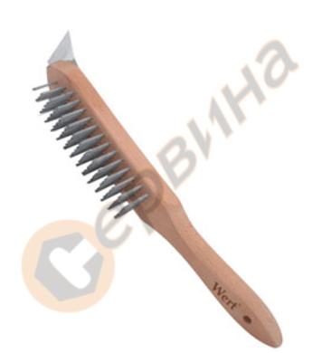 Телена четка с дървена дръжка WERT - W2771