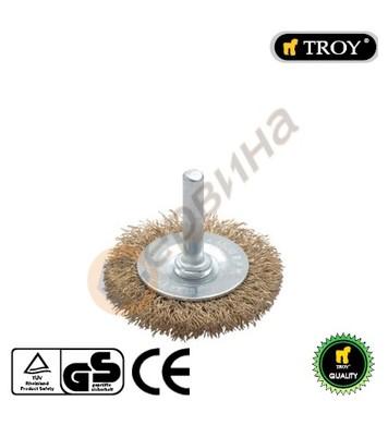 Телена четка тип кръгла 75мм TROY - T27703-75