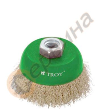 Телена четка тип камбана 100мм TROY - T27710-100