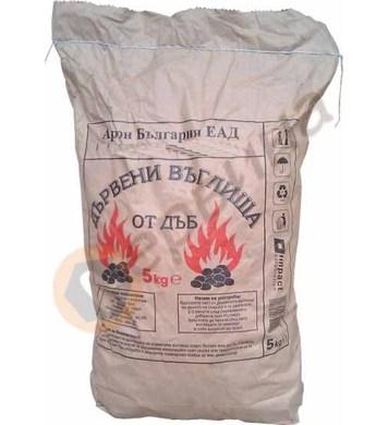 Дървени въглища от дъб 5кг.