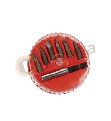 Комплект накрайници за отвертка с адаптер-адаптор  Mannesman