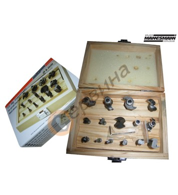 Комплект накрайници за оберфреза(фрези) 15бр ф6мм Mannesmann