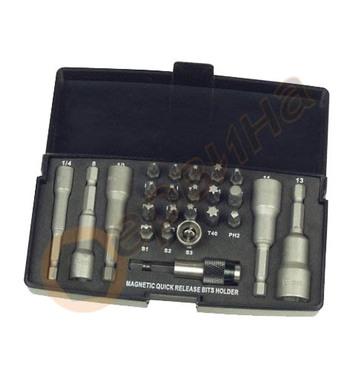 Комплект вложки и накрайници за отвертка 24бр. Mannesmann M2