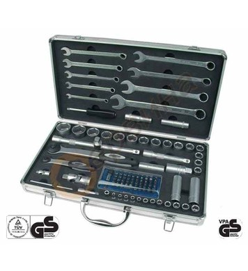 Комплект проф. тресчотка в алуминиев куфар 105бр. Mannesmann