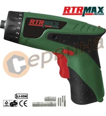 Акумулаторна отвертка 3,6V/1,0Ah RTRMaX RTM306