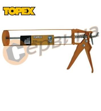Пистолет за силикон Topex 21B245 - алуминиев