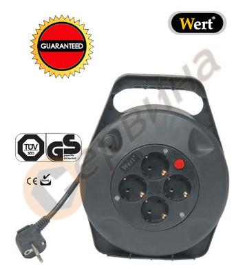 Разклонител - макара с кабел Wert W2459 - 10 метра
