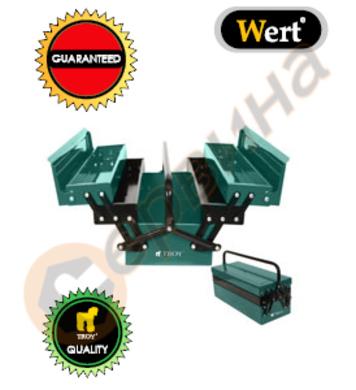 Метален куфар за инструменти Troy T90008 - 420мм