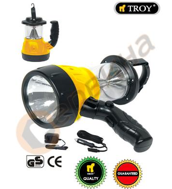 Акумулаторен ръчен фенер - къмпинг лампа TROY T28047