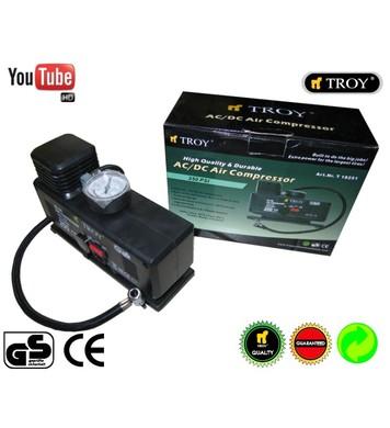 Компресор-помпа за гуми - мини TROY T18251 12V-230V
