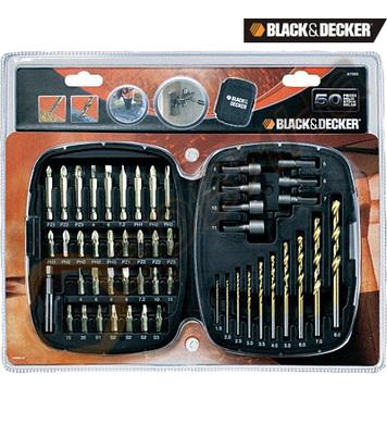 Комплект свредла и накрайници 50 части Black&Decker A7093