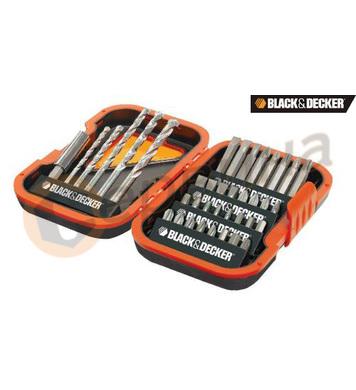 Комплект свредла и битове Black&Decker A7182 - 38 части