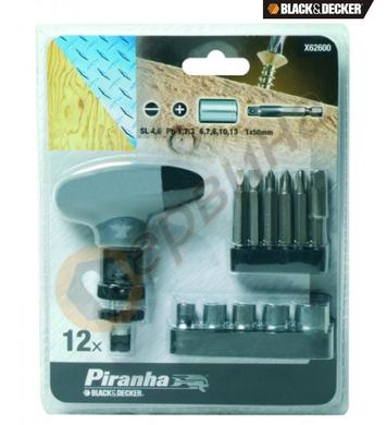 Комплект накрайници с ръкохватка 13 части Black&Decker X6260