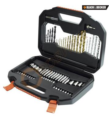 Комплект свредла и битове 70 части Black&Decker A7184