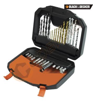 Комплект свредла и битове 30 части Black&Decker A7183