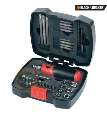 Комплект накрайници с ръкохватка 43 части Black&Decker A7175