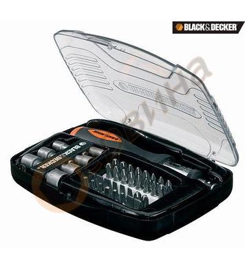 Комплект накрайници с ръкохватка 40 части Black&Decker A7062