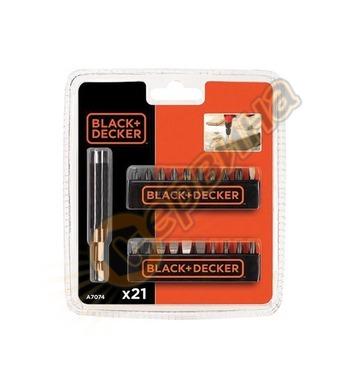 Комплект накрайници 21 части Black&Decker A7074