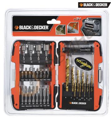 Комплект свредла и битове 31 части Black&Decker A7178