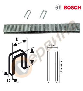 Поцинковани скоби за такер 1.2x25мм Bosch TK40 25G