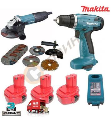 Промоционален комплект Makita DK1144 (GA5030 + 6281DWPE)