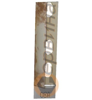 Ъглова външна лайсна PVC 8мм. 2,5м. 08A