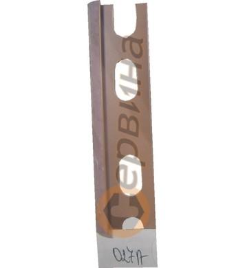 Ъглова външна лайсна PVC 8мм. 2,5м. 027A
